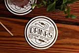 """Easy, Tiger Gold Foil Coasters (set of 8), """"Drinks are on me"""""""