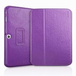 Housse/etui en vrai cuir de vachette haute qualité pour Samsung Galaxy Tab 3 10.1'' P5200/P5210 (Violet)
