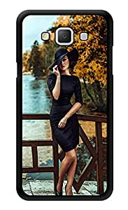 "Humor Gang Confident Girl In Black Printed Designer Mobile Back Cover For ""Samsung Galaxy j5"" (3D, Glossy, Premium Quality Snap On Case)"
