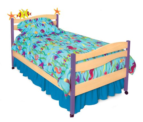 Room Magic RM02-TS Twin Comforter/Bedskirt/Sham Set, Tropical Seas
