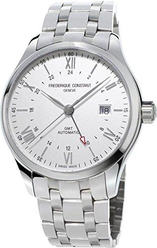 Frederique Constant Geneve Classics Index GMT FC-350S5B6B Reloj Automático para hombres Segundo Huso Horario