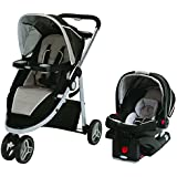 Graco Modes Sport Travel System with SnugRide Click Connect 35 Infant Car Seat Cedar, Black/Beige
