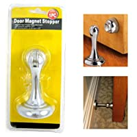 Magnetic Door Stopper Holder Safety Catch Doorstop Guard Office Fitting Screws !