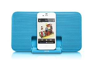 GEAR4 StreetParty Size 0 Ultra-Slim Portable Travel Speaker Dock for iPod / iPhone -  Blue
