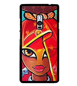 Village Girl Painting 2D Hard Polycarbonate Designer Back Case Cover for OnePlus 2 :: OnePlus Two :: One +2