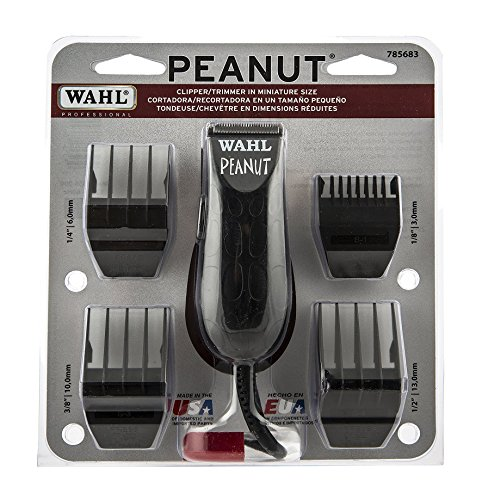 Wahl Professional Peanut Clipper/Trimmer #8655-200, Black - Great On-the-Go Trimmer for Barbers and Stylists - Powerful Rotary Motor (Wahl Ac Trimmer compare prices)