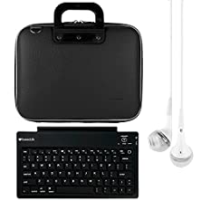 buy Sumaclife Cady 11.6-Inch Tablet Bag For Insignia Flex Ns-P11W6100 With Bluetooth Keyboard & White Headphones (Black)