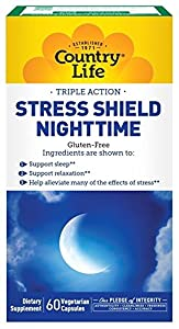 Country Life Stress Shield Nighttime Capsules, 60 Count