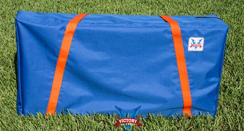 Blue w-Orange Straps Cornhole Carrying Case (Full
