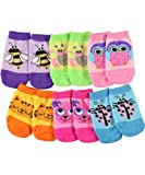 "Jacques Moret Baby Girls' ""Springtime Creatures"" 6-Pack No-Show Socks"