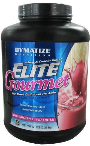 Dymatize Nutrition - Elite Gourmet Protein Whey & Casein Blend Powder Strawberries & Cream - 5 Lbs.