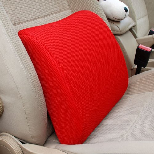 Thg Decor Red Memory Foam Back Pain Support Car Home Office Chair Sofa Cushion Case Lumbar Pillow Cover front-878118