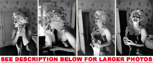 MARILYN MONROE PERFUME AND MAKEUP (4) RARE 8x10 FINE ART PHOTOS