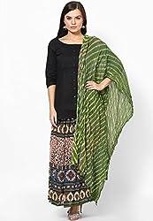 Lehariya Design Tie-Dye Cotton Dupatta