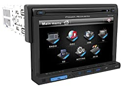 See POWER ACOUSTIK PD-710 Single DIN Multimeadia Source with Detachable 7-Inch Oversize LCD Touchscreen Details