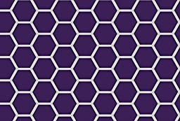 SheetWorld Fitted Cradle Sheet - Purple Honeycomb - Made In USA