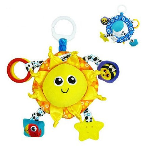 Baby Early Development Toys Multifunctional Plush Sun And Moon Bed Hang Ring Bell front-522638