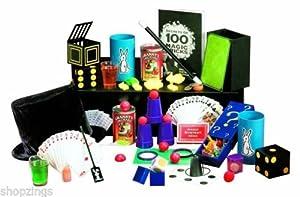 Kids Classic 100 Tricks Magic Show Kit Suitcase Toy Set Video Magician Table Hat