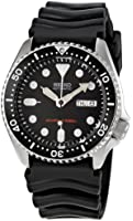 Seiko Men's SKX007K Black Rubber Automatic Watch with Black Dial