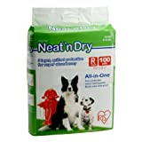 IRIS Neat n Dry Floor Protection and Training Pet Pads, Regular, 100 Count