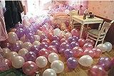 ROZZERMAN 風船 50個 セット 空気入れ付き パープル ホワイト ピンク バルーン パーティー 小物 飾り 小道具 おもちゃ 飾り付け 誕生日 クリスマス n112