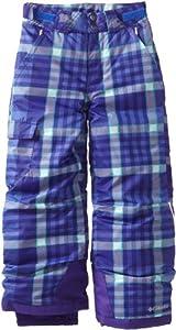 Columbia Girl's Bugaboo Pant, Purple Lotus Plaid, Large