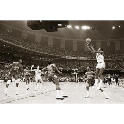 Michael Jordan In Action