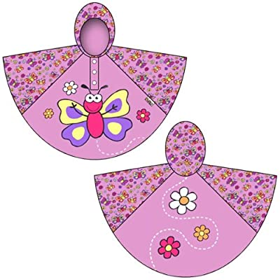 Bugzz Kids Stuff Rain Ponchos (Butterfly)