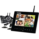 LOREX LW2932 9-Inch LCD with Integrated SD Recording and 2 Wireless Indoor/Outdoor Cameras (Black)