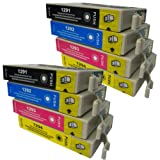 8 CiberDirect High Capacity Compatible Ink Cartridges for use with Epson WorkForce WF-3540DTWF Printers.