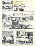 1963 ? Dodge Fargo Camper RV Van Brochure