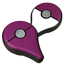 ポケモン GO PLUS 用 スキンシール カバー シール ケース 高級素材 側面対応 丈夫で長持ち 保護 マスターパープル 高級感のある手触り 切れ込みがなく 簡単に貼り付け可能