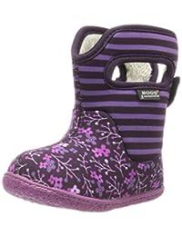 Bogs Baby Flower Stripe Waterproof Boot (Toddler)