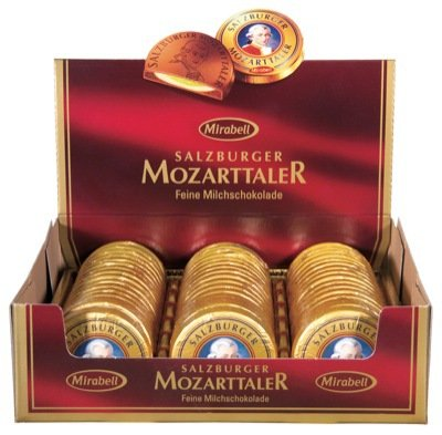 Mozart Taler Coins Chocolate, 48 Pieces with Total 960 Grams in one BOX, Mirabell Salzburg (Mozart Kugeln Chocolates compare prices)