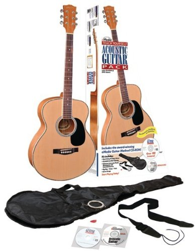"""Emedia - Teach Yourself Acoustic Guitar Pack, Steel-String *** Product Description: Emedia - Teach Yourself Acoustic Guitar Pack, Steel-String Quality 40"""" Full-Size Nylon-String Acoustic Guitar With A Spruce Top & Rosewood Fingerboard 182 Compreh ***"""