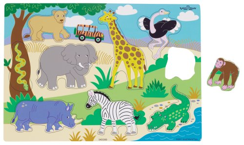 Small World Toys Ryan'S Room - Wood Safari Puzzle front-657807