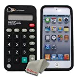 BZ Gadget Calculator Design Soft Case Cover for Apple iPod Touch 5G 5th Gen (Black) + BZ Gadget Cleaning Cloth