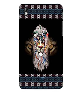 PrintDhaba Tiger D-3026 Back Case Cover for HTC DESIRE 816 (Multi-Coloured)