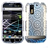 CELL PHONE CASE COVER FOR MOTOROLA PHOTON 4G / ELECTRIFY MB855 TRANS GRAY CIRCULAR PATTERNS