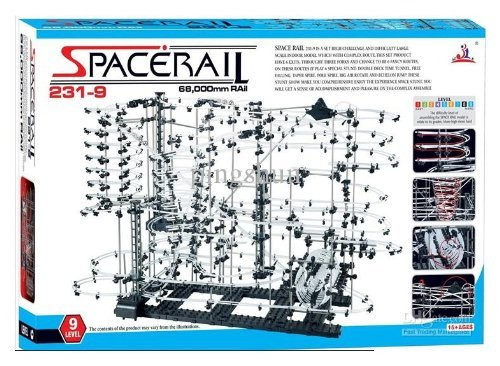 Spacerail/Spacewrap Level 9 ,200ft of Rails - New Arrival - Special Edition, Limited - Hardest Level for Genius Kids