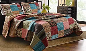 Greenland Home 3-Piece New Bohemian Quilt Set, Full/Queen