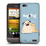 Head Case Designs Hug Piper The Pug Protective Snap-on Hard Back Case Cover for HTC One V