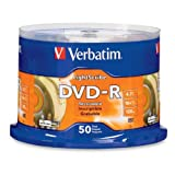 Verbatim 96166 4.7 GB up to 16x LightScribe Gold Recordable Disc DVD-R 50-Disc Spindle