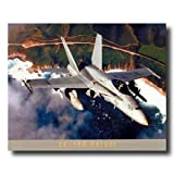 FA-18A Hornet Military Fighter Jet Aircraft Airplane Aviation Wall Picture 16x20 Art Print
