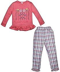 FS Mini Klub Girls' Night suit 4-5 Years (84670K-CORAL4Y_1)