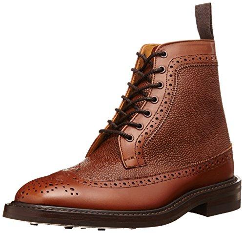 [トリッカーズ] Tricker's Tricker's Two Tone Golosh Brogue Boot  Calf / Scotch Grain -  (Dainite Sole) M7819 Beechnut / Conker(Beechnut / Conker/8)