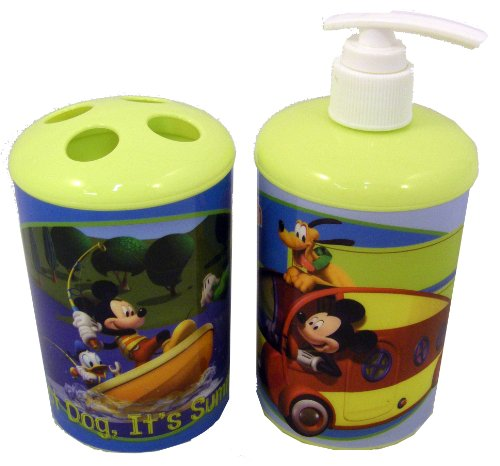 Mickey Mouse & Friends Toothbrush & Soap / Lotion Bathroom Set