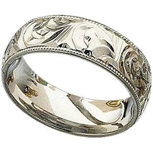 s engraved platinum wedding band