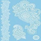 VIESN Tattoo Aufkleber Temporäre Körperkunst Entfernbare Muster Sticker für Ihre Körper Weiß Schwarz Design 1 (Mode6)