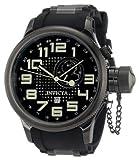 Invicta 5861 Men's Russian Diver Black IP Rubber Strap Quartz Watch